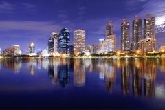 Lake at the Benchakitti Park. In Bangkok Benjakiti Park Stock Photography