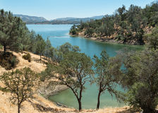 Lake Berryessa, desert landscape stock photo