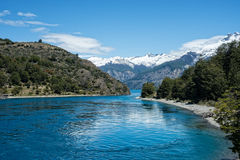 Lake Bertrand in Chile Royalty Free Stock Images