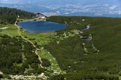 Lake Bezbog and Bezbog hut, Pirin Mountain Stock Image