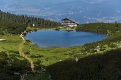 Lake Bezbog and Bezbog hut, Pirin Mountain Stock Photography
