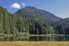Lake Bichler in Mangfall mountains Royalty Free Stock Image