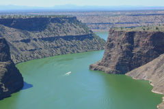 Lake Billy Chinook. The Cove Palisades State Park, Oregon royalty free stock photo