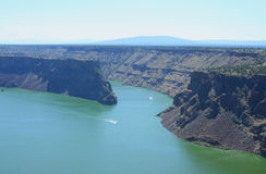 Lake Billy Chinook. At the convergence of the Deschutes and Crooked Rivers, The Cove Palisades State Park, Oregon royalty free stock images