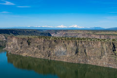 Lake Billy Chinook reservoir in central Oregon high desert. View of Lake Billy reservoir in the high desert of Central Oregon Royalty Free Stock Photography