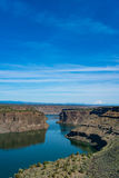 Lake Billy Chinook reservoir in central Oregon high desert. View of Lake Billy reservoir in the high desert of Central Oregon Stock Images
