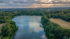 Lake view from above germany royalty free stock photography