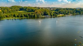 Lake view from above germany royalty free stock image