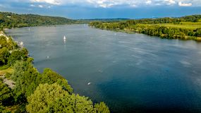 Lake view from above germany royalty free stock photo