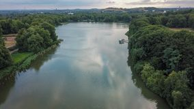 Lake view from above germany royalty free stock photos