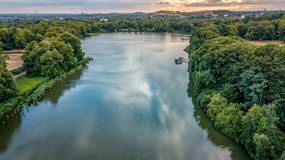 Lake view from above germany stock photography