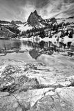 Lake Blanche in black and white. Stock Photography