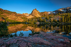 Lake Blanche at sunset. This photo was taken at Lake Blanche in Utah at sunset Royalty Free Stock Images