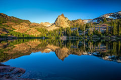 Lake Blanche at sunset Stock Image