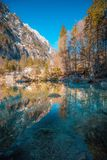 Lake Blausee, Switzerland royalty free stock image