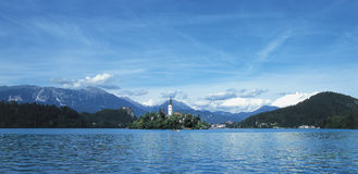 Lake Bled. Church on lake Bled, Slovenia Royalty Free Stock Images