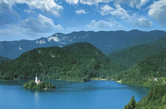 Lake Bled. Julian Alps, Slovenia Stock Photo