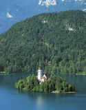 Lake Bled. Little island on lake, Bled, Slovenia Royalty Free Stock Photos