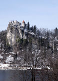 Lake Bled,Alps and the Castle Bled, Slovenia Stock Image