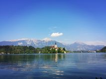 Lake Bled. Beautiful Lake Bled Stock Photography