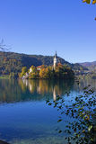 Lake Bled Island 10 Stock Images