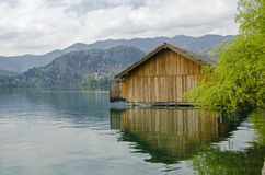 Lake Bled. Island in Slovenia Stock Images