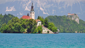 Lake Bled,Julian Alps,Slovenia Stock Photo