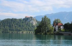 Lake Bled in the Julian Alps Royalty Free Stock Images