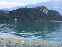 Lake Bled in the Julian Alps Stock Photos