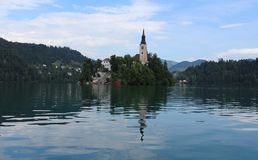 Lake Bled in the Julian Alps Royalty Free Stock Photo