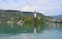 Lake Bled in the Julian Alps Stock Photography