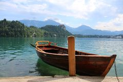 Lake Bled in the Julian Alps Stock Image