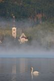 Lake Bled in the Mist Royalty Free Stock Photo