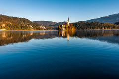 Lake Bled in the morning. Stock Images