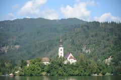 Lake Bled Озеро Блед Slovenia Словения castle Замок. Lake Bled stock photos
