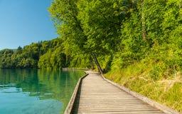 Lake Bled path, Slovenia Stock Image