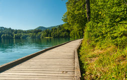 Lake Bled path, Slovenia Royalty Free Stock Photography