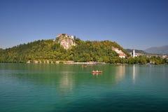 Lake Bled, Slovenia. Boats on the Lake Bled, Slovenia Royalty Free Stock Photography