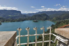 Lake Bled in Slovenia with Church of the Assumption Royalty Free Stock Photo