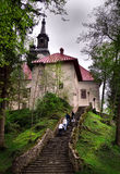 Lake Bled - Slovenia. Church on Lake Bled - a popular place for weddings in Slovenia Stock Photo