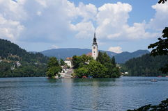 Lake Bled in Slovenia Royalty Free Stock Photos