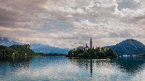 Lake Bled, Slovenia. Magnificent Lake Bled in Slovenia Stock Photo