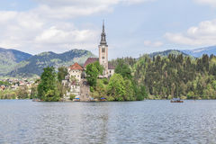 Lake Bled in Slovenia, Spring 2015 Royalty Free Stock Image