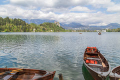 Lake Bled in Slovenia, Spring 2015 Royalty Free Stock Images
