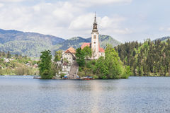 Lake Bled in Slovenia, Spring 2015 Stock Photo