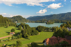 Lake Bled at a sunny day, Slovenia Royalty Free Stock Image