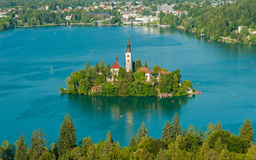 Lake Bled, view from above Royalty Free Stock Photo