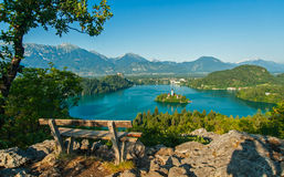 Lake Bled, view from above Stock Photography