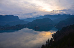 Lake Bled view from Bled castle Stock Photography