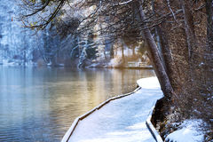 Lake Bled in winter, Bled, Slovenia, Europe. Stock Image
